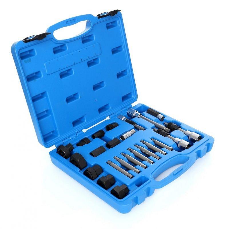 Set, klíče pro alternátory se spojkou, 24 ks. JC8060